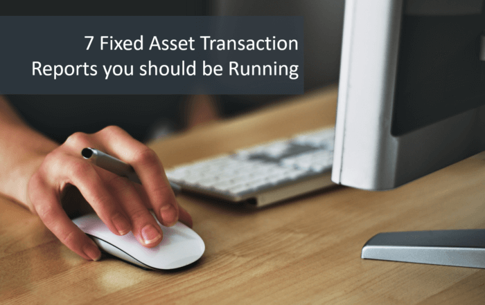 fixed asset transaction report
